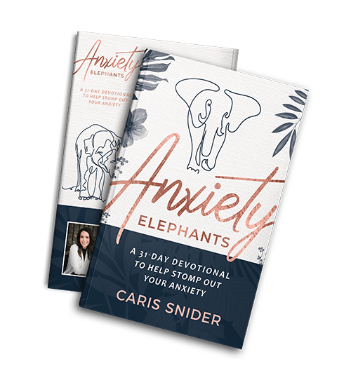 Anxiety Elephants Devotional Book